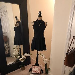 Black Open flow mini dress